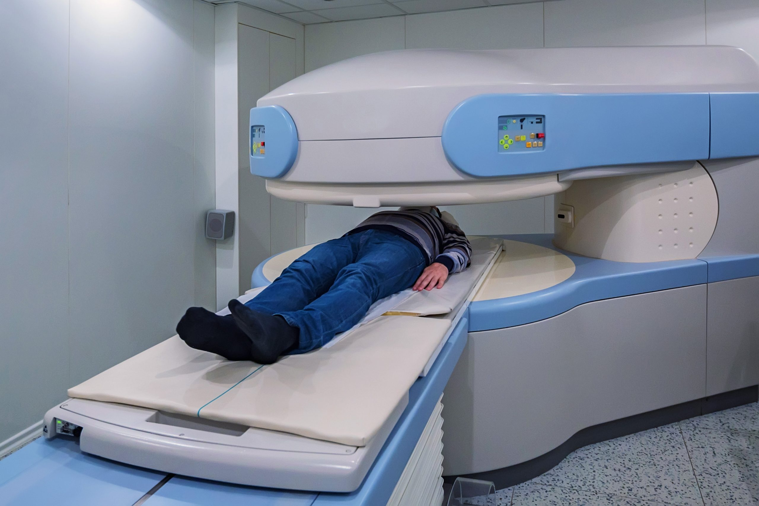open mri scan on patient in hospital
