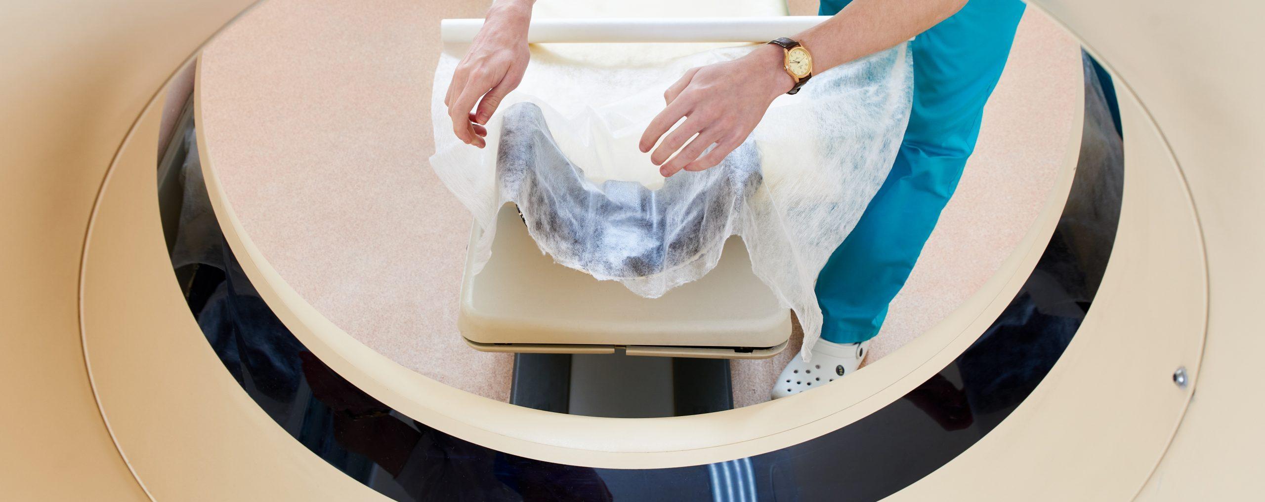 preparing ct scanner machine